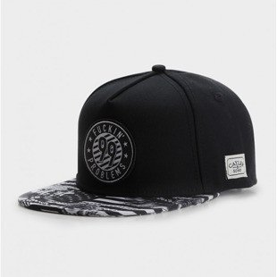 Cayler & Sons snapback 99 FCKN Problems Classic Cap black / white CLASSIC-CAY-SU-16-05