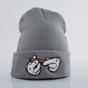 Cayler & Sons winter cap #kush Old School Beanie grey / white (GL-CAY-AW15-BN-01-OS)