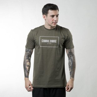 Criminal Damage November Tee olive / white