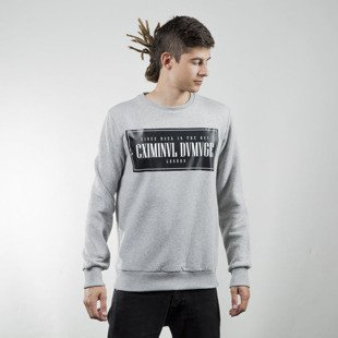 Criminal Damage Since Sweater grey / black