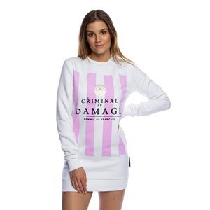Criminal Damage crewneck Hills long white