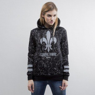 Criminal Damage sweatshirt hoody WMNS Splatter Reflective black