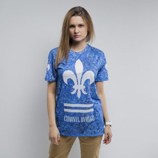 Criminal Damage t-shirt Aqua blue / white WMNS