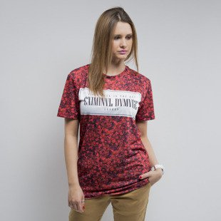 Criminal Damage t-shirt Petal red WMNS