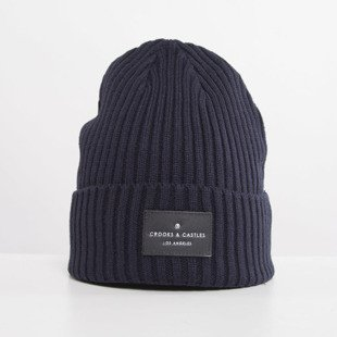 Crooks and Castles Men's Knit Beanie Regal true navy