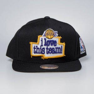 Czapka Mitchell & Ness snapback Los Angeles Lakres black I Love This Team