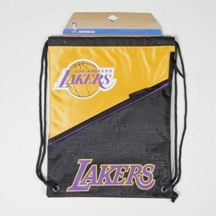 Forever Collectibles drawstring bag Los Angeles Lakers Diagonal Zip black / yellow