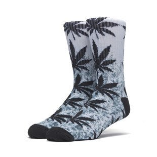 HUF Digital Pl Snow Top Crew Sock white / black