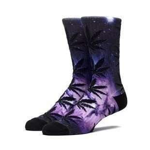 HUF Galaxy Plantlife Crew Sock purple SK64029