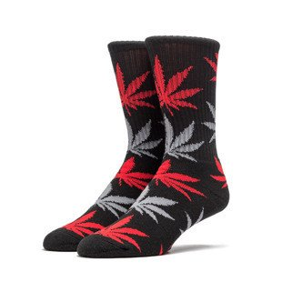 HUF Plantlife Crew Sock black / red / grey