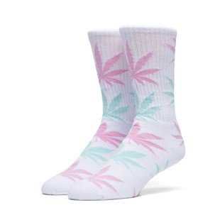 HUF Plantlife Crew Sock white / pink / turquoise (SK63021)