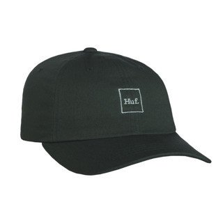 HUF strapback Domestic Box Logo Curved Brim dark green / teal