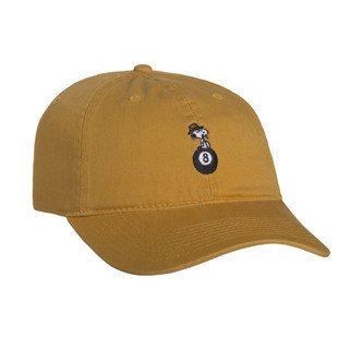 HUF strapback Spike 8 Ball Curved Brim gold