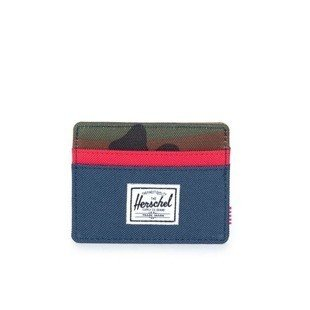 Herschel Charlie Wallet navy / red / woodland camo (10045-00041)
