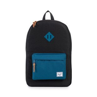 Herschel backpack Heritage black / ink blue rubber (10007-00869)