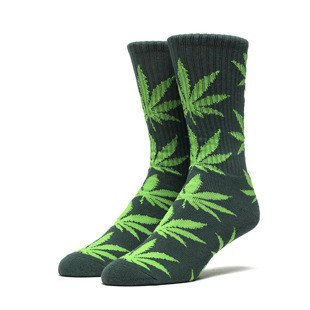 Huf Plantlife Crew Sock deep green / apple