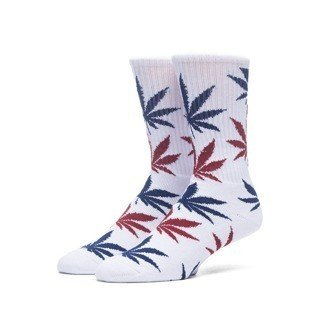 Huf Plantlife Crew Sock white / red / navy