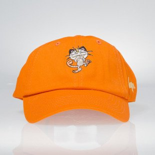 Hype x Pokemon strapback Dad Hat Meowth orange