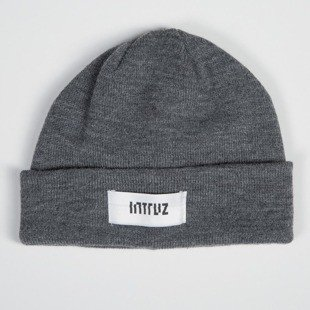 Intruz winter beanie Logo grey