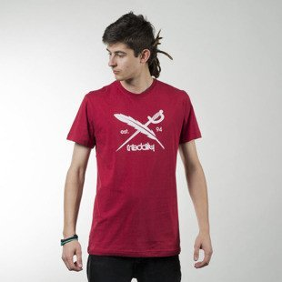 Iriedaily Daily Flag Tee dark red