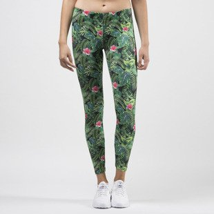 Jungmob legginsy Jungle Mess leggins green / black