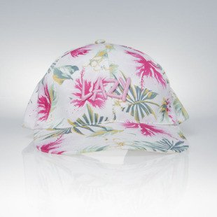 Jungmob snapback Lazy Jungle Cap white / multicolor