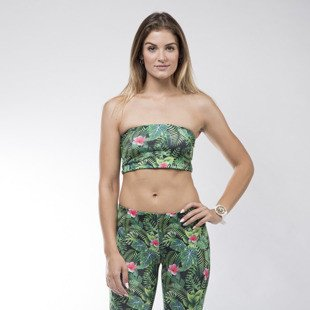 Jungmob top Bandeau Jungle Mess green / black