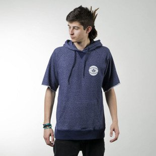 K1X All City Short-Sleeve Hoody heather navy / white (1161-2104/4164)