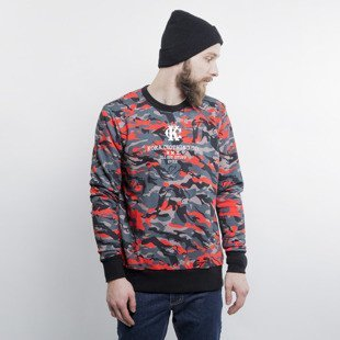 KOKA Naked Camo crewneck red / grey / black