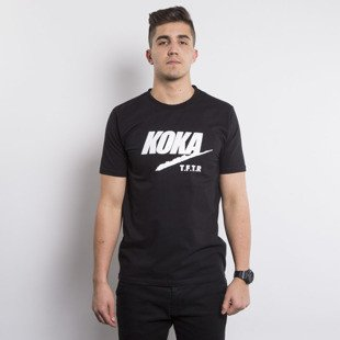 KOKA T-shirt TAKE FROM THE RICH FAKE black