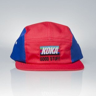 KOKA strapback 5-Panel Cap VHS red / blue