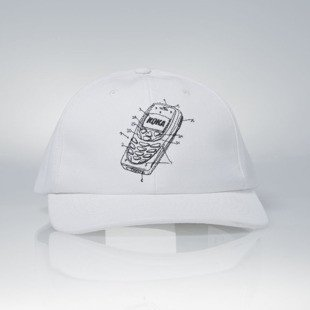 KOKA strapback  6-Panel Cap Mobile white