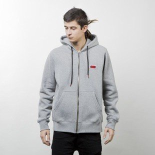 Koka Hoodie Zip Classic Boxlogo heather grey