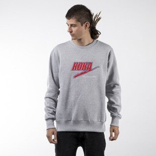 Koka sweatshirt Fake TFTR crewneck heather grey