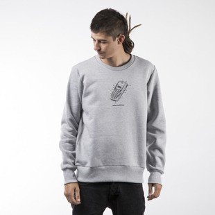 Koka sweatshirt Mobile crewneck heather grey