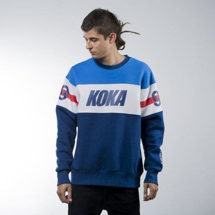 Koka sweatshirt Stripes crewneck navy / white / blue