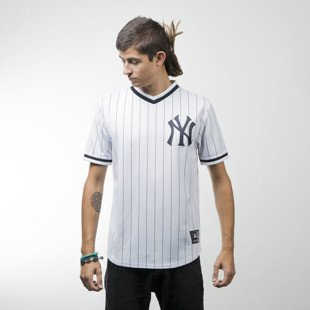 Majestic Athletic Kabor Vneck Poly Tee New York Yankees white MNY2373WB