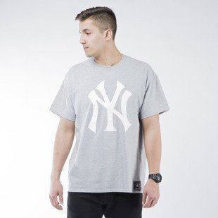 Majestic Athletic Prism Large Logo Tee New York Yankees grey (MNY1450E2)