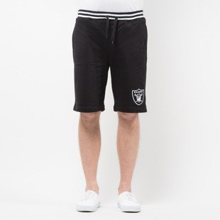 Majestic Athletic Wrest Tipped Loopback Short Oakland Raiders deep black MOR2698DB