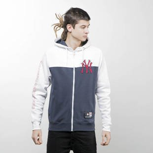 Majestic Athletic sweatshirt Croco Cut & Sew Full Zip Hoody New York Yankees white / navy MLD2363NL