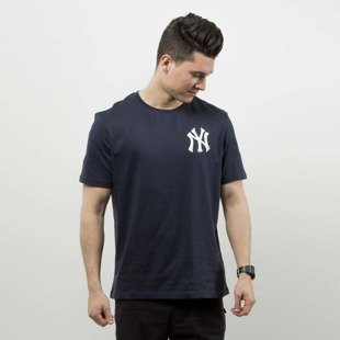 Majestic Athletic t-shirt Tovey Mid Longline Logo Carrier Tee NY Yankees navy leather MNY2711NL