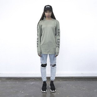 Majors longsleeve The Thruth Life Girl olive
