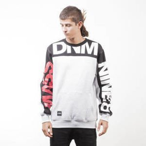 Mass Denim BLAKK sweatshirt Slogan crewneck extra light heather grey