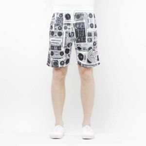 Mass Denim Shorts Mesh Ghettoblaster white SS 2017