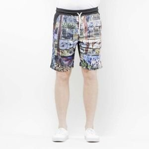 Mass Denim Shorts Mesh R.I.P. 5Pointz multicolor SS 2017