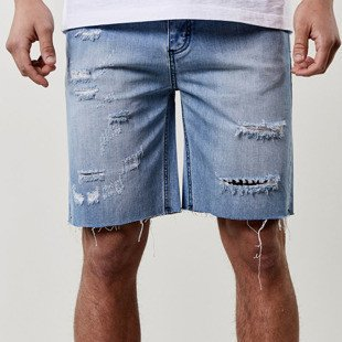 Mass Denim Shorts Raw Edge Denim Shorts blue ALLDD-SS17-17