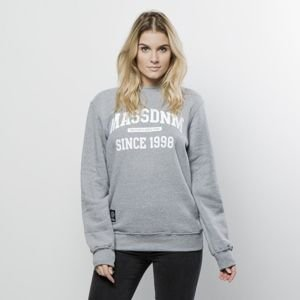Mass Denim Sweatshirt Crewneck Campus WMNS medium heather grey