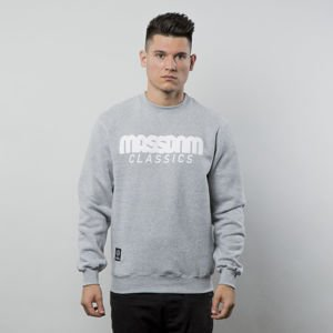 Mass Denim Sweatshirt Crewneck Classics light heather grey