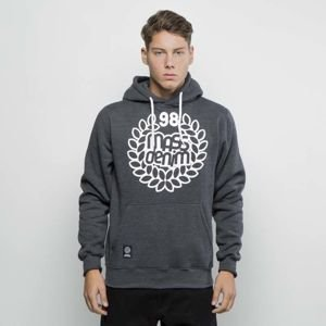 Mass Denim Sweatshirt Hoody Base dark heather grey