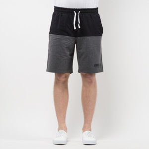 Mass Denim Sweatshorts Classics Cut black / dark heather grey SS 2017